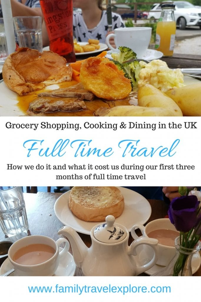 Full Time Travel UK: Grocery Shopping, Cooking & Dining