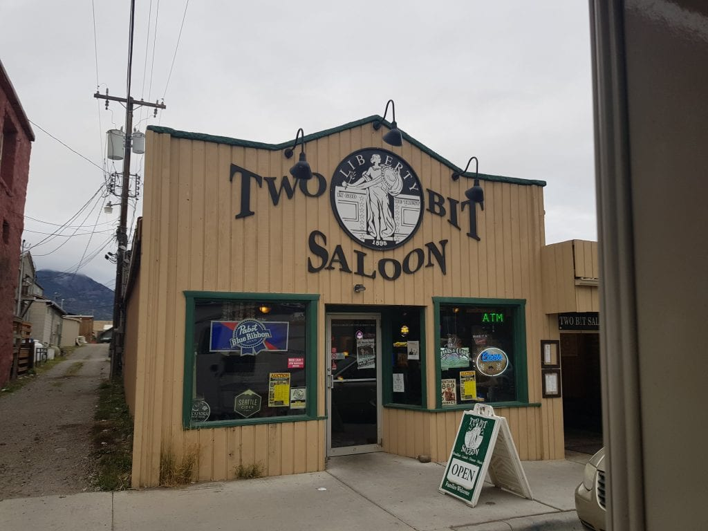 The Two Bit Saloon in Gardiner, Montana near Yellowstone