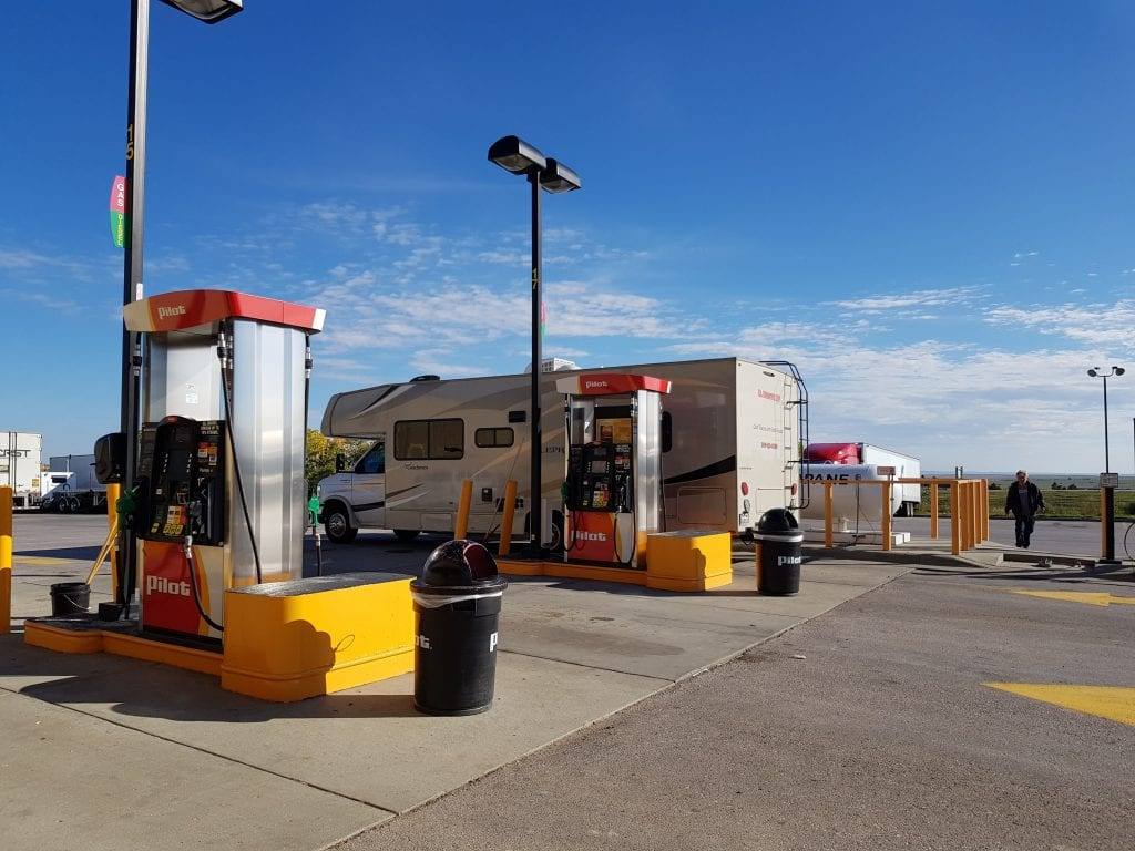 Filling up with propane at Murdo, South Dakota