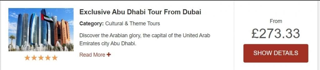 Abu Dhabi from Dubai tour