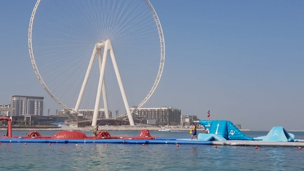 JBR Beach Aquaventure obstacle course Dubai
