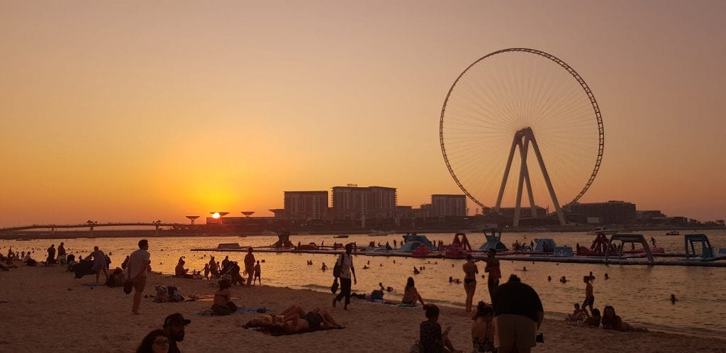 JBR beach sunset, Dubai