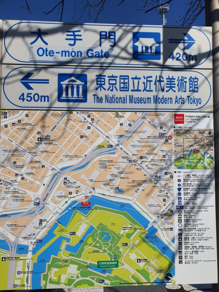 Map of Imperial Palace Tokyo