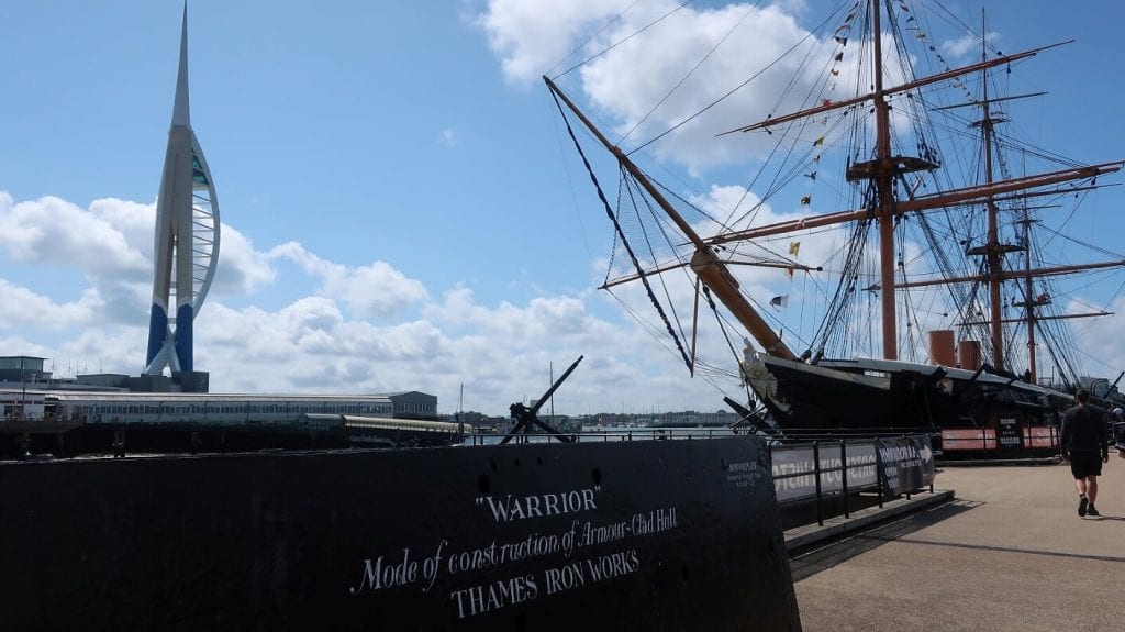 Portsmouth historic dockyard ship