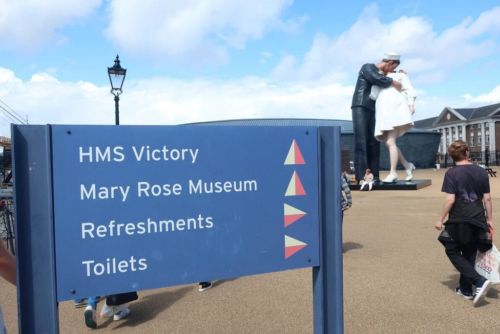 To HMS Victory at Portsmouth Historic Dockyard