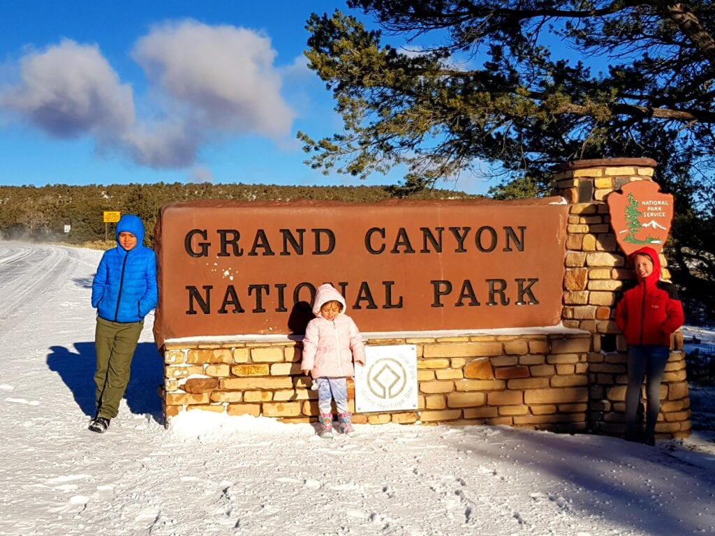 At the Grand Canyon East Entrance