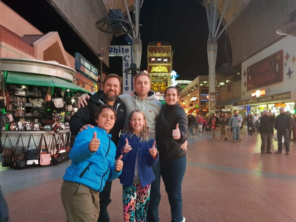 Meeting up with friends from South Africa in Las Vegas